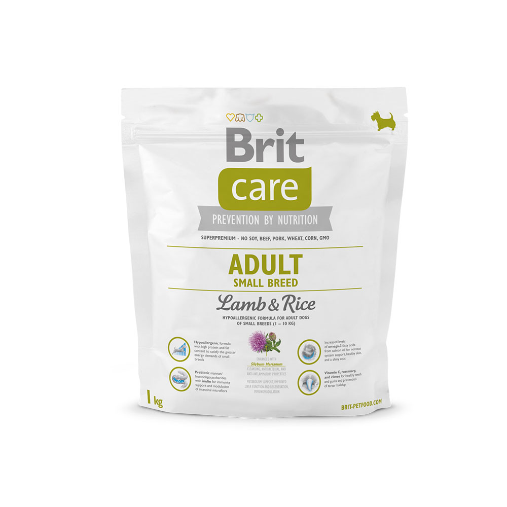 Brit Care Adult Small Breed LambRice 1kg