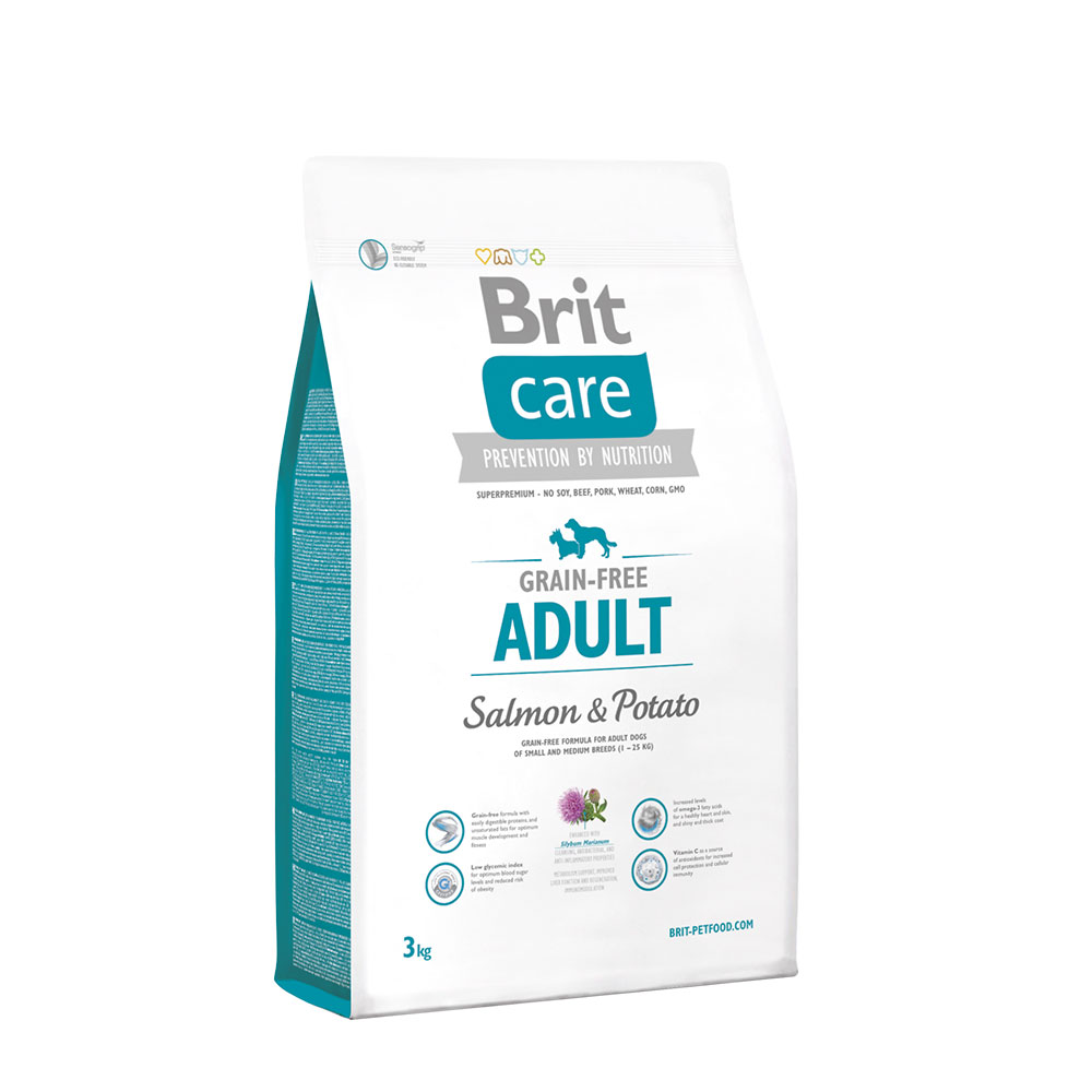 Brit Care Adult Salmon Potato 3kg vafo