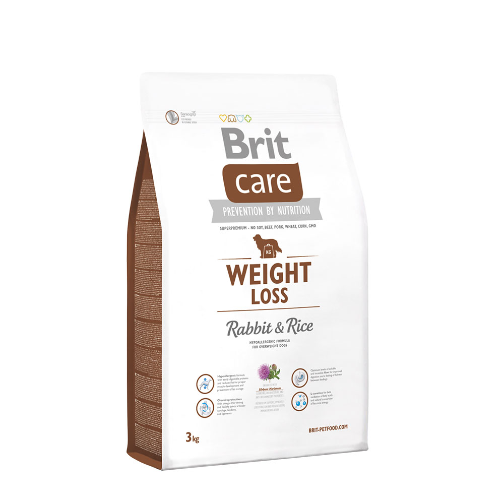 Brit Care Weight Loss Rabbit Rice 3kg vafo